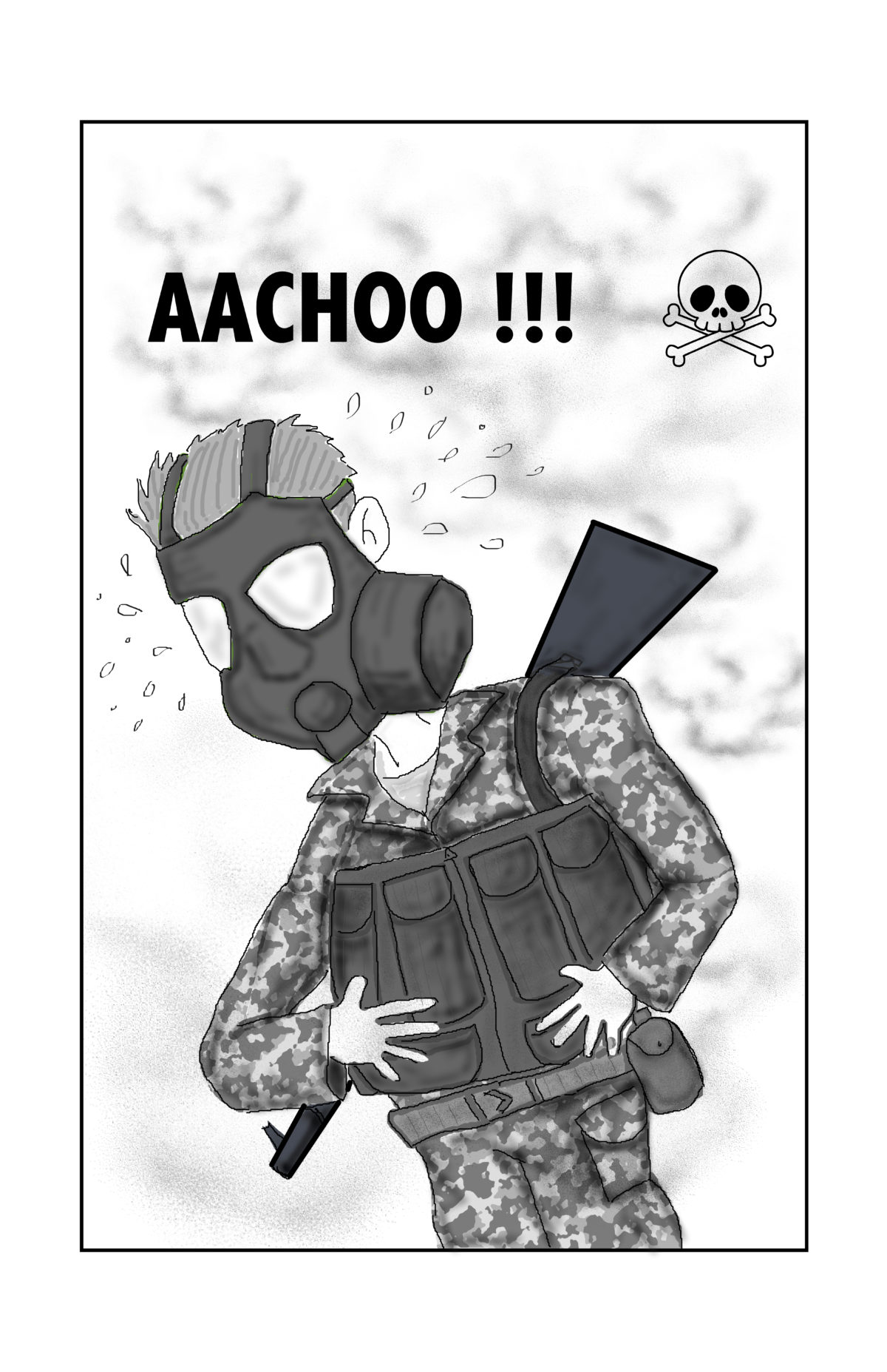 Gas Mask Sneeze Attack