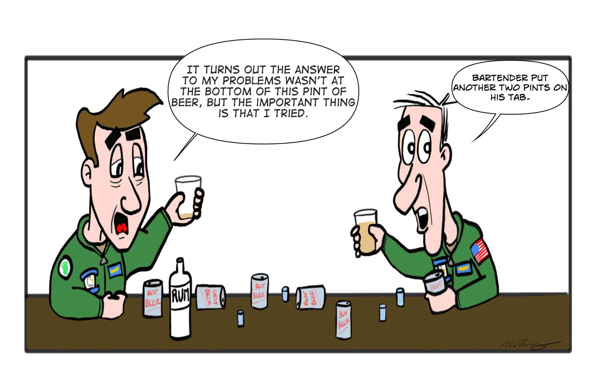 military pints