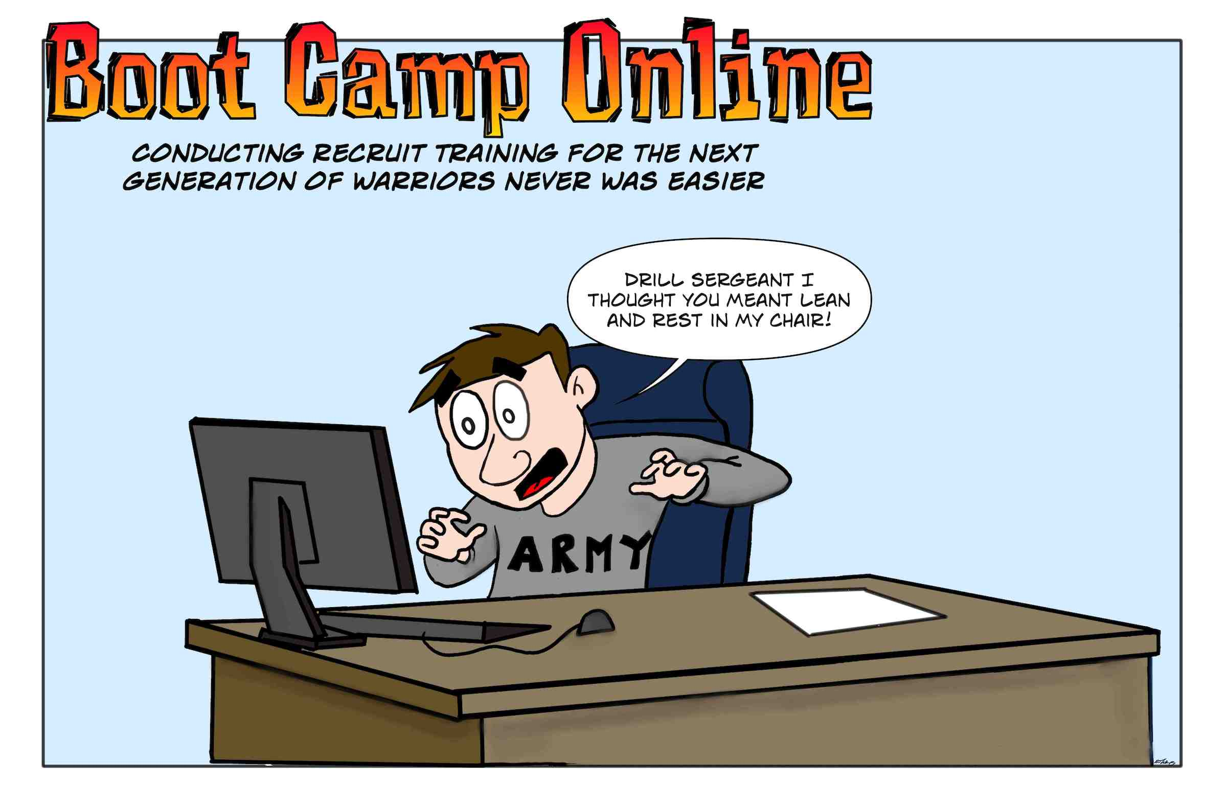 How to solve the military recruiting shortage is simple, just go online for boot camp.