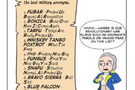 George Washington's top ten military acronyms