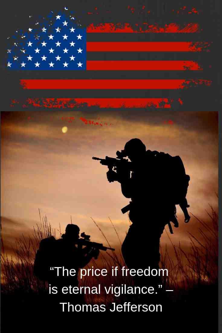 """The price if freedom is eternal vigilance."" – Thomas Jefferson"