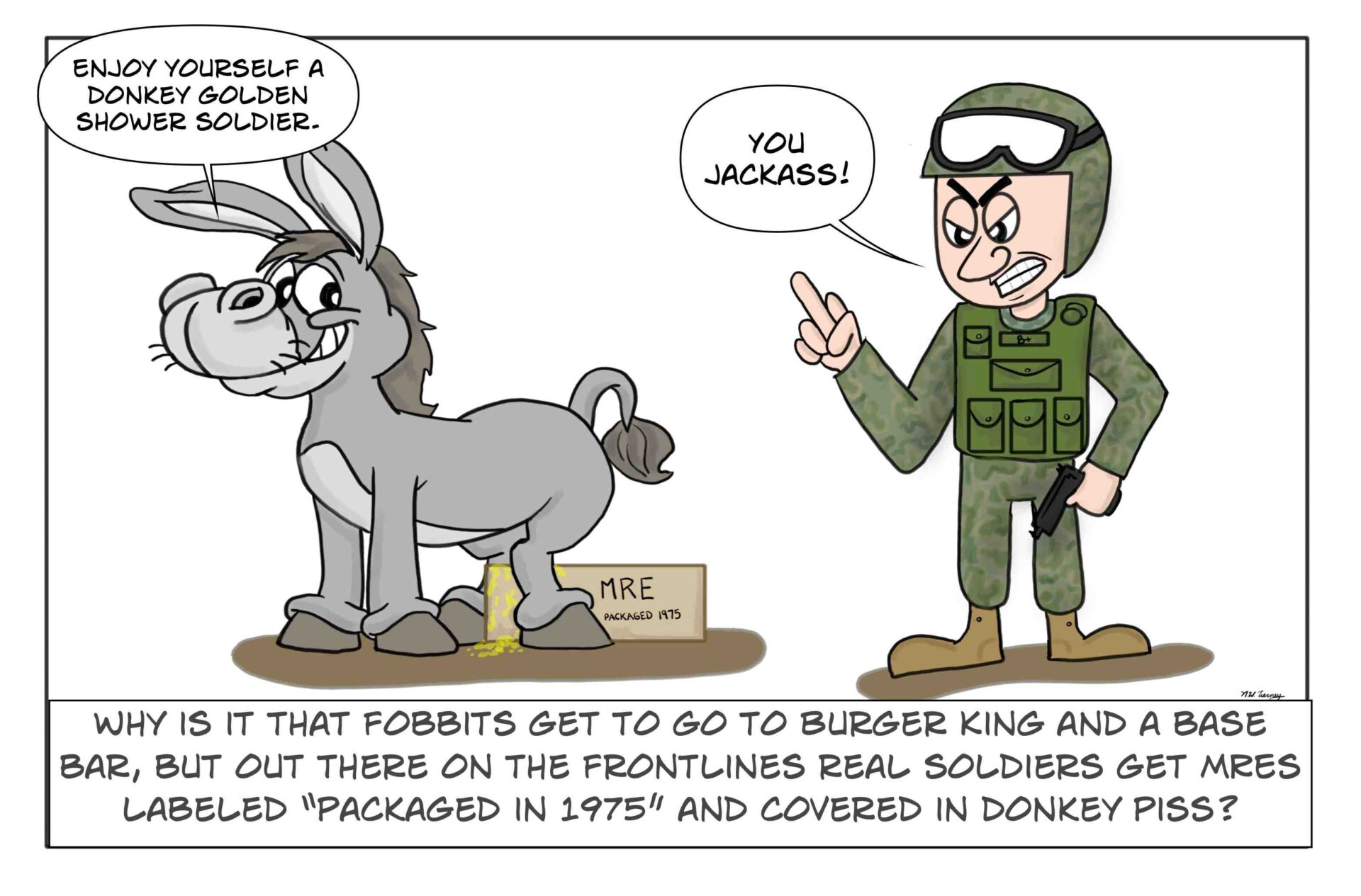 An Army FOBBIT vs. the frontlines soldier has many more perks and food choices.
