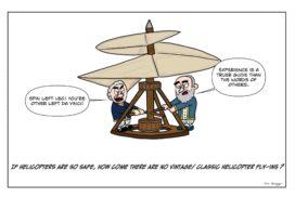 Leonardo Da Vinci's helicopter has a major shortcoming in their safety.