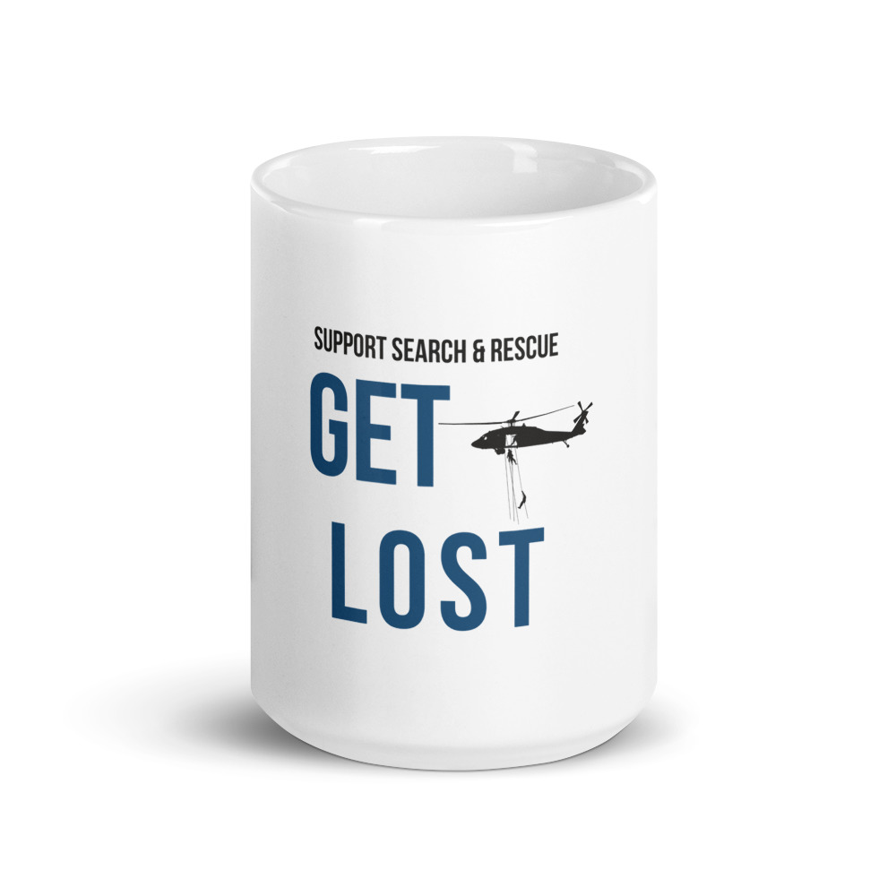 support search and rescue and get lost coffee mug