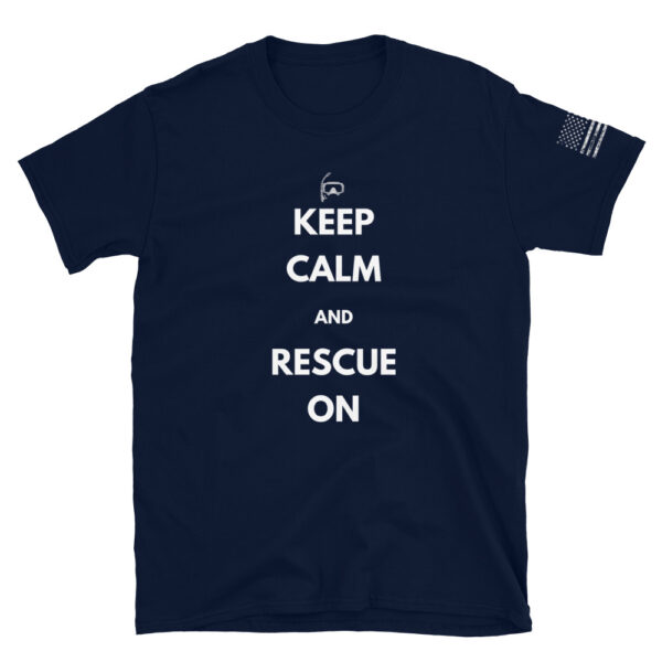 rescue swimmer keep calm and rescue on