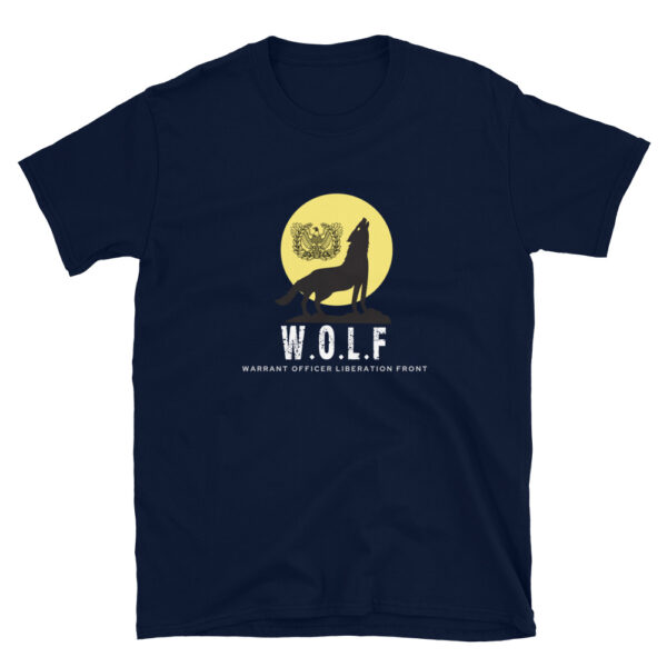 Army warrant Officer liberation front navy WOLF shirt.