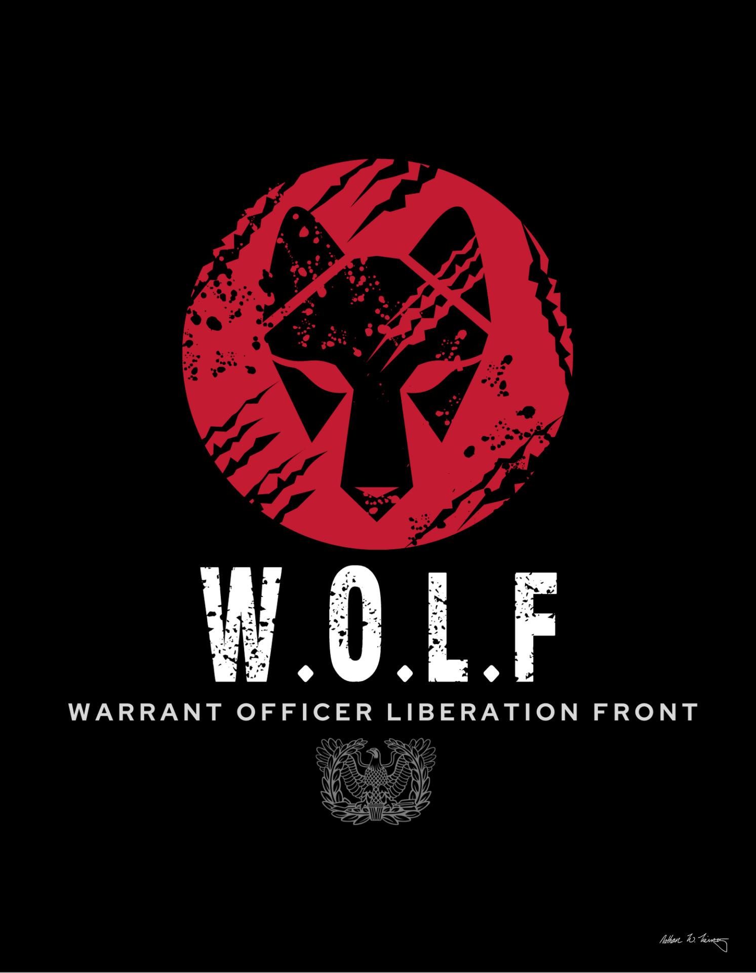 Warrant Officer Liberation Front logo design 1