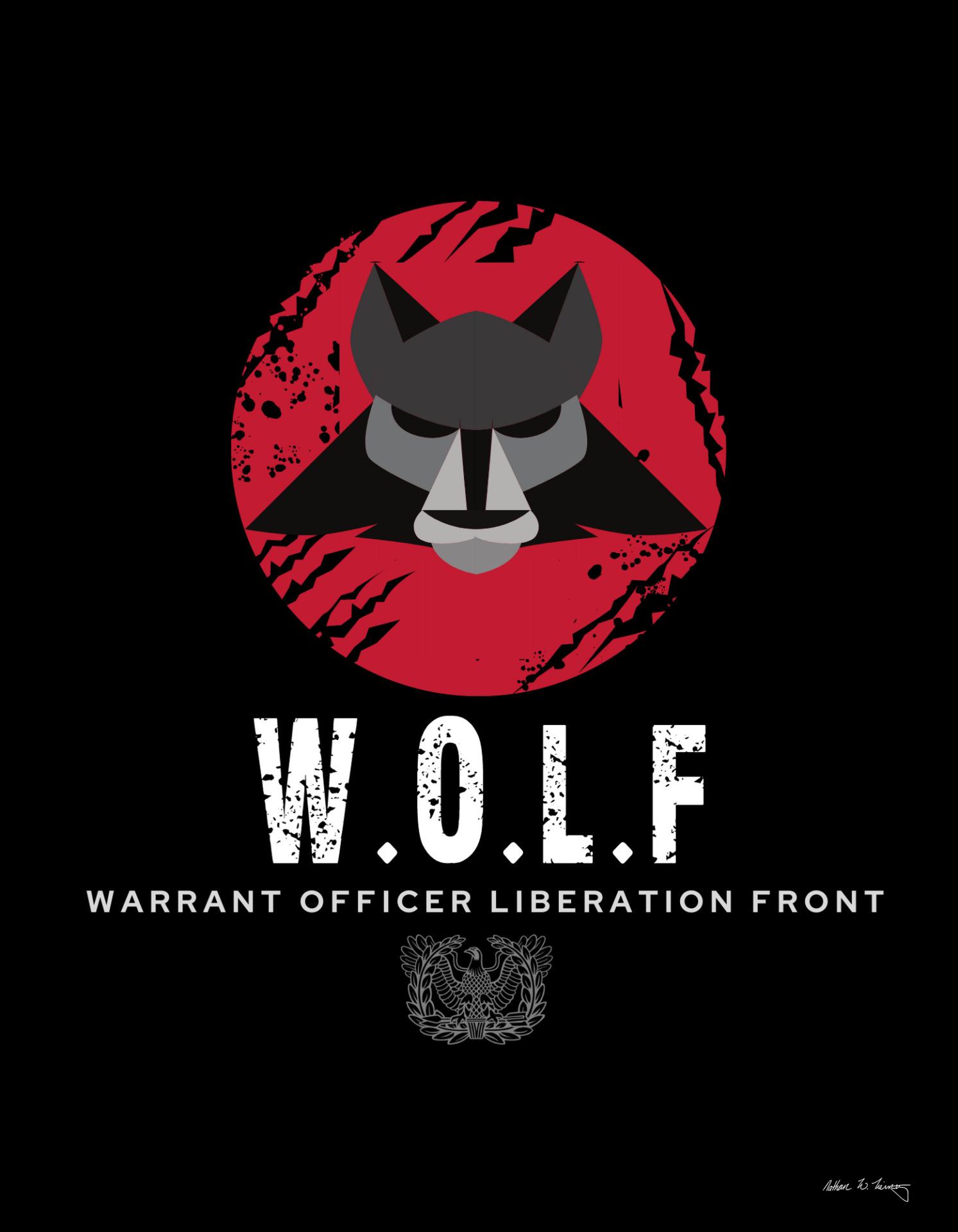 Warrant Officer Liberation Front logo design 4