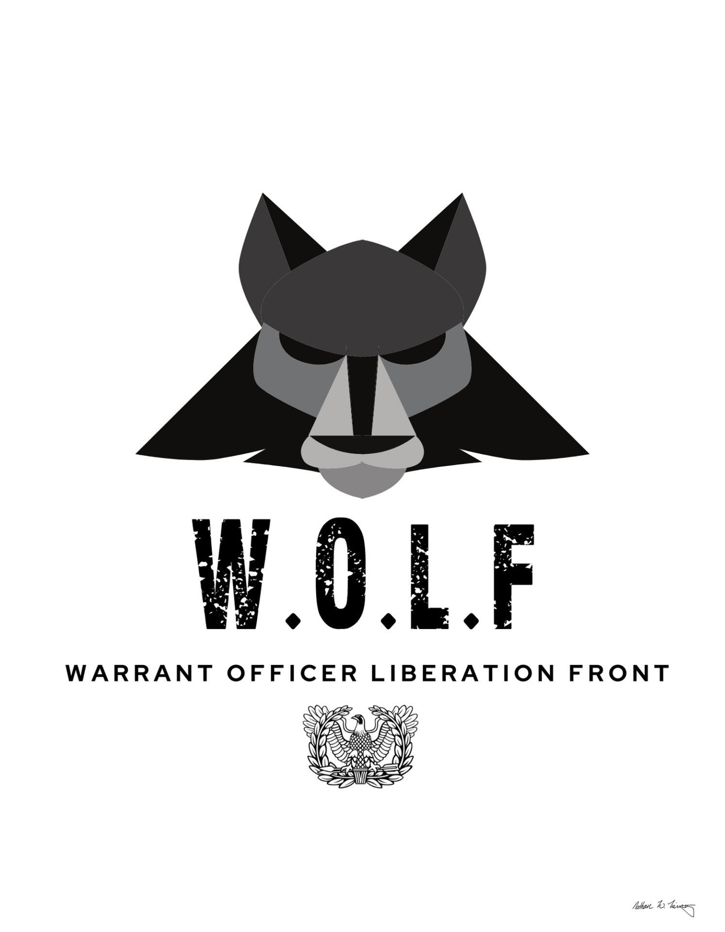 Warrant Officer Liberation Front logo design 3