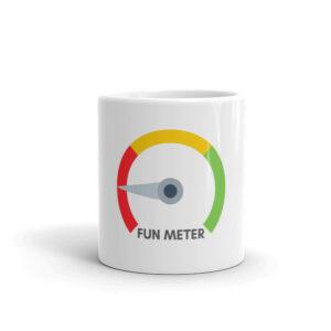 Fun meter 11 oz mug front view