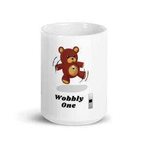 Army Warrant Officer Wobbly One and Wojgy Bear white glossy 15 oz mug.