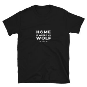 Home is where my wolf is for the Warrant Officer Libration Front army members. A black shirt.
