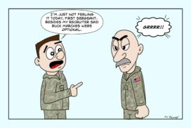 What not to say to an Army First Sergeant.