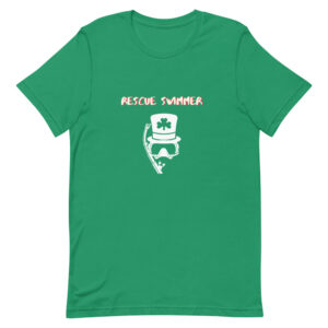 I'm a rescue swimmer with a top hat is a perfect Saint Patrick's Day green t-shirt.