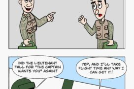 Flight time is cherished in the military.