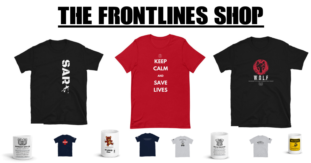 the frontlines shop for military t-shirts and coffee cups.