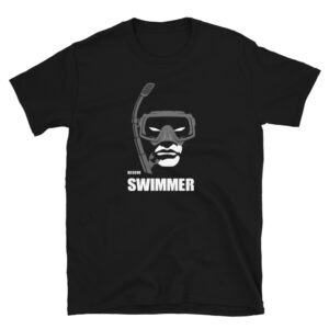 Rescue Swimmer superhero t-shirt available in multiple sizes and black color.